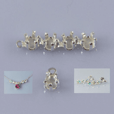 3mm Round 925 Sterling Snap Tite Linkable Setting  1pc