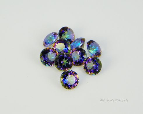 3mm Round Genuine Blue Rainbow Topaz VVS (Excellent Quality)