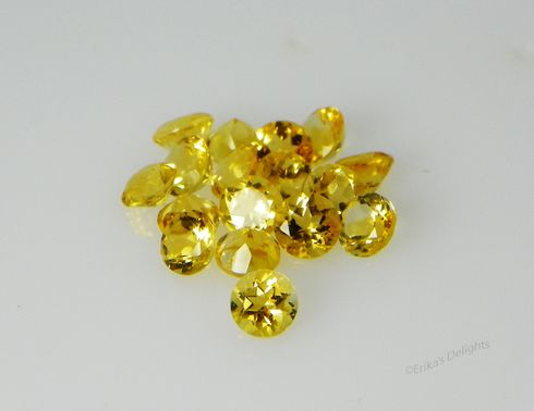 3mm Round Genuine Golden Citrine Round VVS (Excellent Quality)