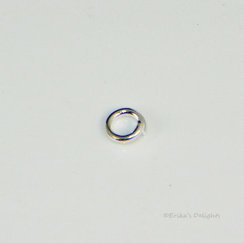 3mm Round Silver Plated Jump Rings (22 Gauge)