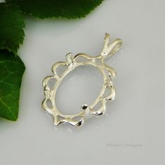 40x30 Oval Cameo Cab Sterling Silver Pendant Setting