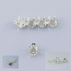 4mm Round 925 Sterling Snap Tite Linkable Setting 1pc
