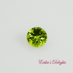 5mm Round Lively Green Natural Peridot .56cts VVS