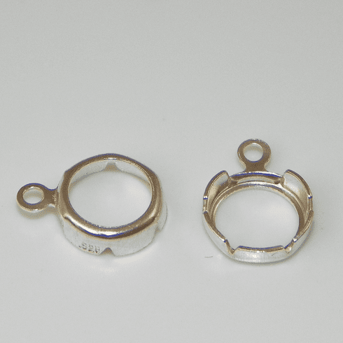 5mm Round Sterling Silver HIGH Wall Backset Drop 1pc