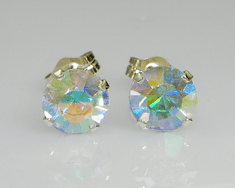 6mm Crystal AB Sterling Silver Earrings using Swarovski Elements