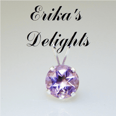 6mm Round Natural Amethyst Sterling Silver Pendant