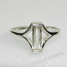 7mm Tourmaline Solitaire Sterling Silver Ring Setting