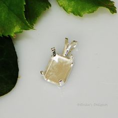 7x5 Emerald Snap Tite Sterling Silver Pendant Setting