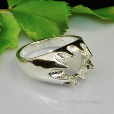 8mm Round Men's Gypsy Sterling Silver Ring Setting