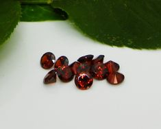 8mm Round Red Garnet Cubic Zirconia AAAAA