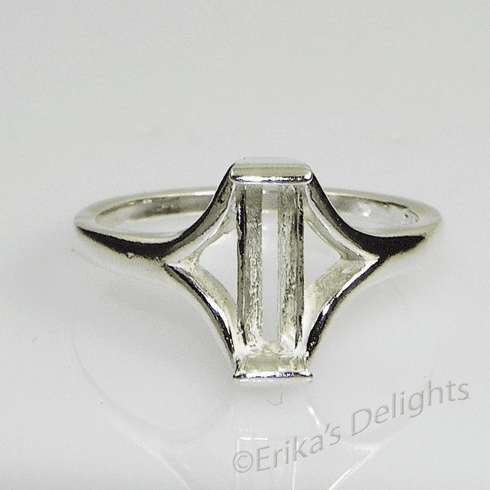 9mm Tourmaline Solitaire Sterling Silver Ring Setting
