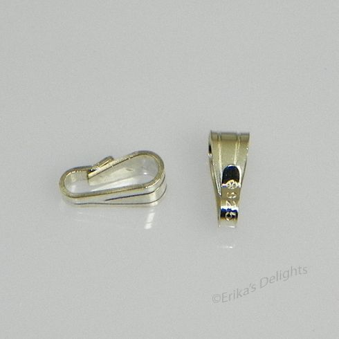 Bail 925 Sterling Silver 6x2mm Snap On 1pc