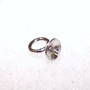 Drop Sterling Silver 4mm Cup With Peg 1pc