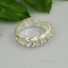Mother's Ring 6 Stone Rope Style Sterling Silver Pre-Notched RING Setting