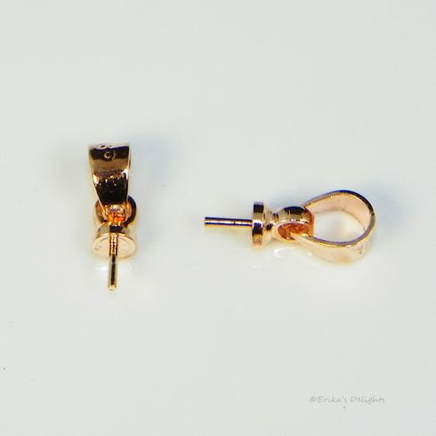 Rose Gold Plated Bail with Peg