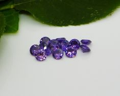 Round Purple Amethyst (4mm - 8mm)
