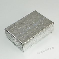 Silver Cotton Filled Gift Box 1 7/8 x 1 1/4 x 5/8