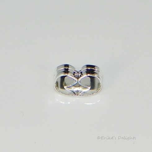 Silver Plated Earring Clutch 6x4mm