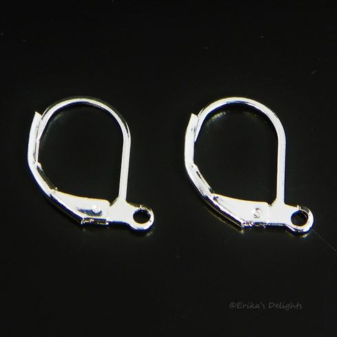Silver Plated Leverbacks 16x10mm (1 pair)