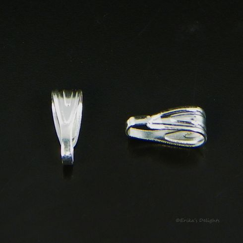 Silver Plated Snap On Bail 6x3mm