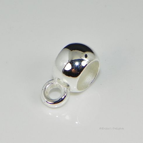 Silver Tone 8mm Smooth Cup Acrylic Bail Bead