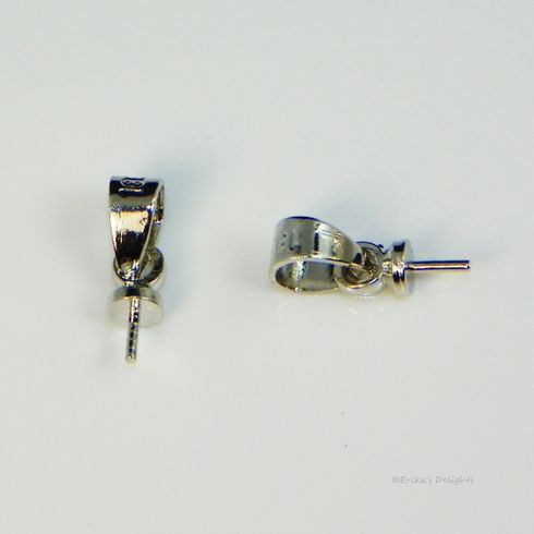 Silver Tone Bail with Peg