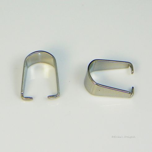 Stainless Steel Pinch Bail 10x8mm