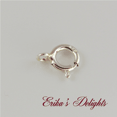 Sterling Silver 5mm Round Spring Clasp