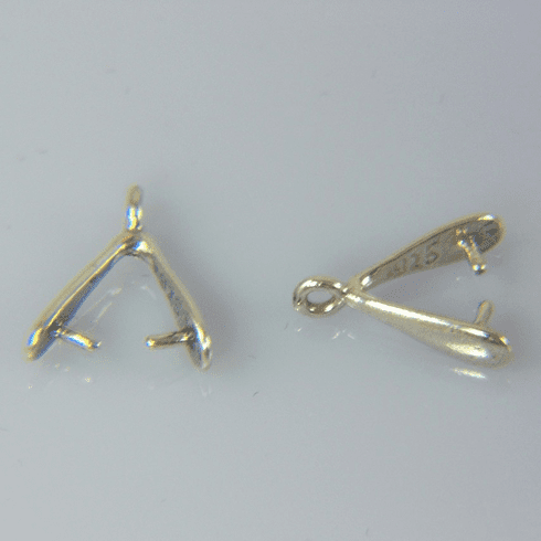 Sterling Silver Bail with Peg Y Shape 1pc