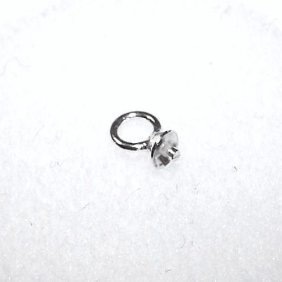 Sterling Silver drop 2mm Cup w/ Peg 1pc