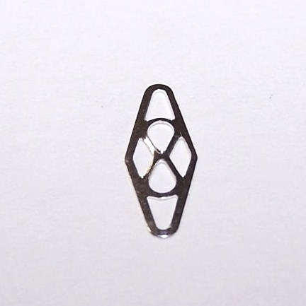 Sterling Silver Link Plaque 11x4.5mm 1pc