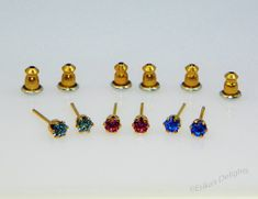 FREE Pair Swarvoski Gold Plated Earrings (FREE With Every Order of $5.00 or More)