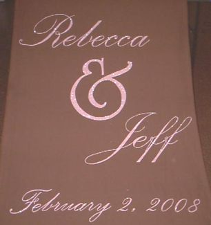 Glittered Names and Date Aisle Runner