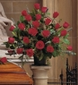 Blooming Red Roses Basket Sympathy