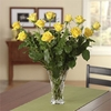 Enchanting Yellow Dozen Roses - Vase variety