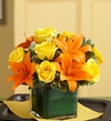 Fall Rose and Lily Bouquet