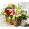 Flowers basket and chocolate