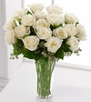 Long Stem White Rose Bouquet 18 rose