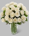 Long Stem White Rose Bouquet 24