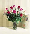 Long-stemmed Mixed Roses Arrangement