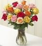 Multicolored Roses, 18 Stems