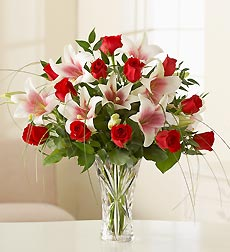 Rose and Lilies