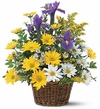 Smiling Spring Basket Flowers