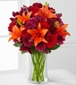 Sunset Roads Rose & Lily Bouquet -