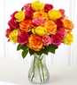 Two Dozen Multicolored Roses