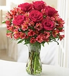 Vibrant Rose and Peruvian Lily