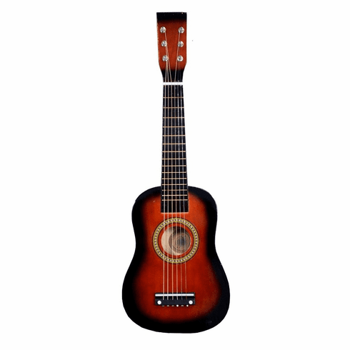 23 Inch Coffee Brown Acoustic Toy Guitar for Kids - & DirectlyCheap(TM) Translucent Blue Medium Guitar Pick