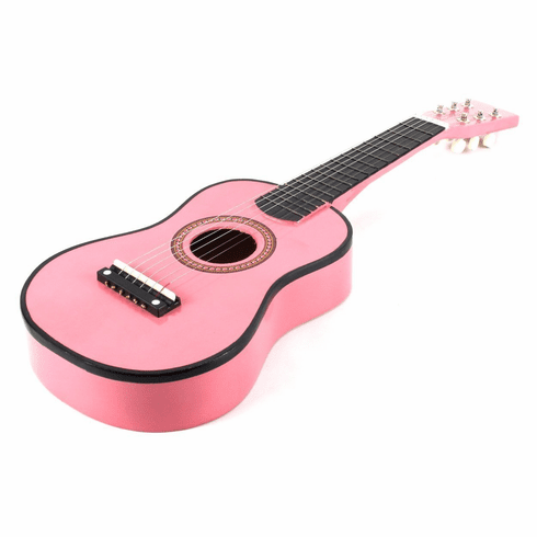 23 Inch Pink Acoustic Toy Guitar for Kids - & DirectlyCheap(TM) Translucent Blue Medium Guitar Pick