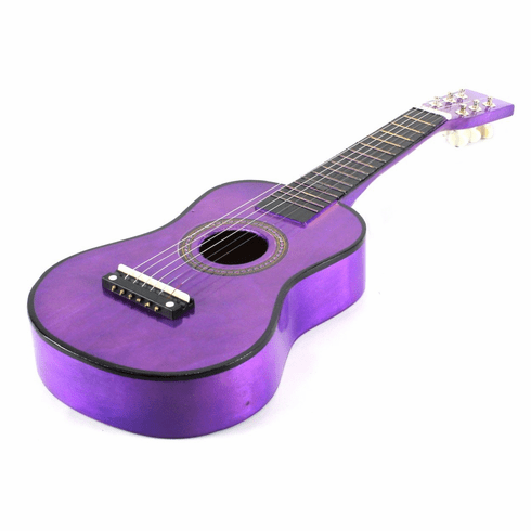 23 Inch Purple Acoustic Toy Guitar for Kids - & DirectlyCheap(TM) Translucent Blue Medium Guitar Pick