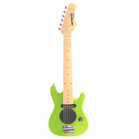 "30"" Inch Green Half Size Junior Kids Electric Guitar with Built in Amp - & DirectlyCheap(TM) Blue Medium Guitar Pick"